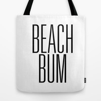 Beach Bum Early 90's Typography Tote Bag by RexLambo
