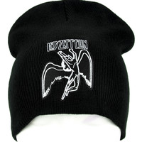 Led Zeppelin Beanie Hard Rock Clothing Knit Cap
