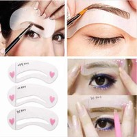 Professional On Sale Hot Deal Beauty Make-up Tool Hot Sale Set Eyebrow Drawing Card [6046672385]