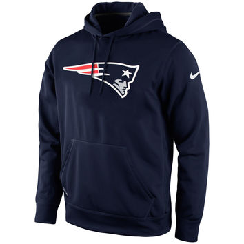 Mens New England Patriots Nike Navy Blue KO Logo Essential Hoodie