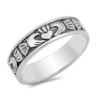 Sterling Silver Claddagh Ring 5MM