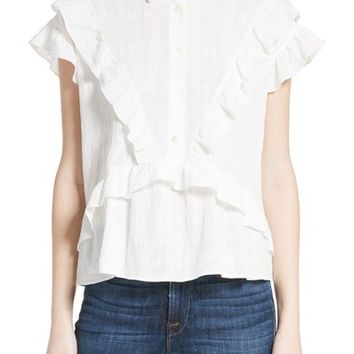 IRO Ruffle Cotton Top | Nordstrom