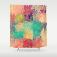 Vintage drip paint rug by healinglove Shower Curtain by Healinglove products