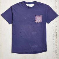 Vintage Destroyed Blue Tee - Urban Outfitters