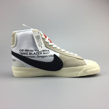 Nike Blazer Studio Mid x Off-White Virgil Basketball Shoes