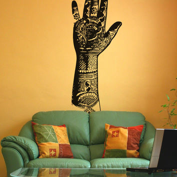 Vinyl Wall Decal Sticker Henna Tattooed Hand #OS_AA385