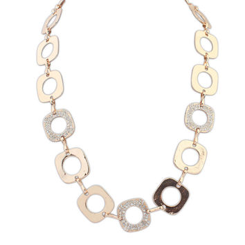 Shiny Gift Jewelry New Arrival Fashion Stylish Strong Character Diamonds Necklace [4918843140]