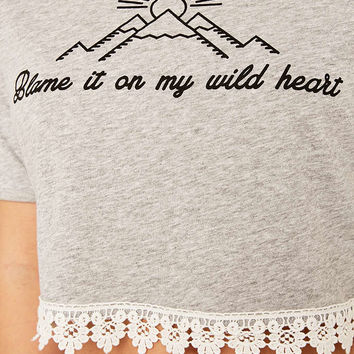 Minkpink Wild Heart Cropped T-shirt - Urban Outfitters