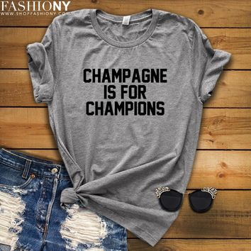 MORE STYLES! Champagne Is For Champions, Funny Graphic Tees, Tank-Tops & Sweatshirts