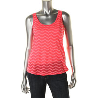 Jenni by Jennifer Moore Womens Juniors Burnout Chevron Tank Top