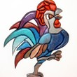 This Rooster will rule the Kitchen! He is made of Sculptured Wood and would be a great piece of Wall Art to your Home.