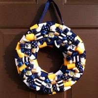 WVU Wreath West Virginia University Mountaineers