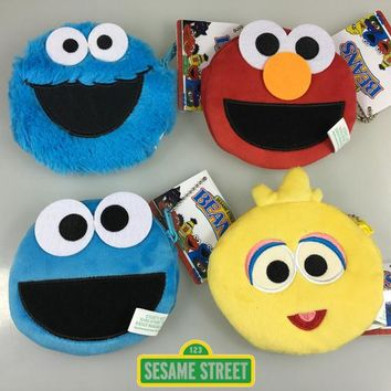 Sesame Street ELMO BIG BIRD COOKIE MONSTER ERNIE Coin Purse Unisex Wallet Multi-functional Kawaii Bag Anime Plush Toys