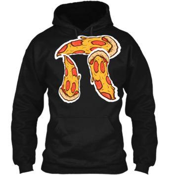 Pi Day Shirt kids Pizza Pi Funny Math Food 3.14 Distressed Pullover Hoodie 8 oz