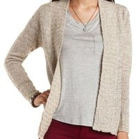 Slub Knit Open Front Cardigan by Charlotte Russe