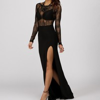 Black Tempting Mesh Dress