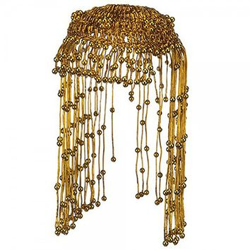 Egyptian Queen Cleopatra Gold Beaded Headdress