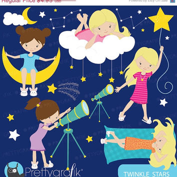 60% OFF star gazing astronomy clipart commercial use, vector graphics, digital clip art, digital images - CL566