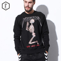 Men's Fashion Winter Skull Hoodies [8822208451]