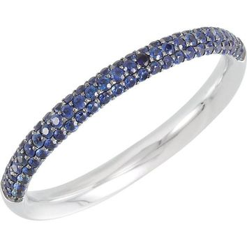 Blue Sapphire Pave Band - Blue Band