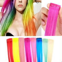 Cheap Sale! 8colors for choose COS European and American punk Harajuku color streaked wig piece wig hair piece wig