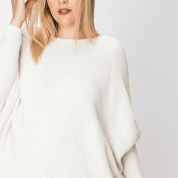 Women's Dolman Sleeve Chenille Sweater