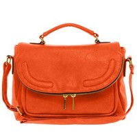 ASOS Satchel Bag With Zip Flap at asos.com