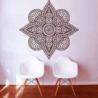 Wall Decals Mandala Indian Pattern Yoga Oum Om Sign Decal Vinyl Sticker Home Decor Art Murals Bedroom Studio Window MN283