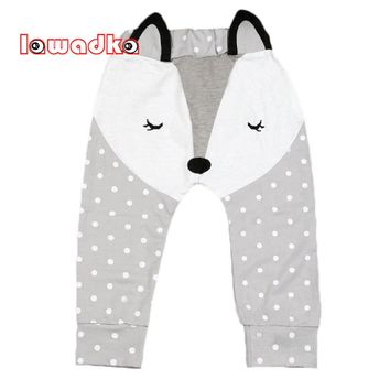 Lawadka Cute Fox Pattern Baby Pants Boys Harem Pants Dot Trousers Spring and Autumn