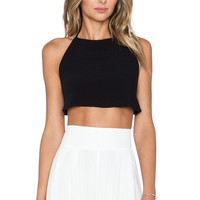 Otis & Maclain Harlow Top in Black Crepe