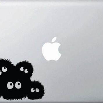 Spirited Away Dust Bunnies Soot Sprites Adhesive Decal Sticker Vinyl Decorative for Wall Car Auto Ipad Macbook Laptop