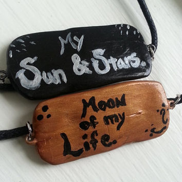 My Sun and Stars , Moon of My Life Necklace Set  / necklace / geekery / accessories / targaryen / pendant / polymer clay / nerd jewelry