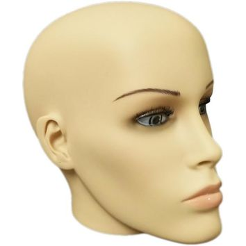 MN-S7 Plastic Female Realistic Head Attachment for Dress Form/Mannequin