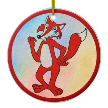 Red Fox Ceramic Ornament
