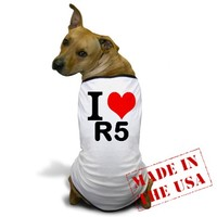 I ? R5 Dog T-Shirt on CafePress.com