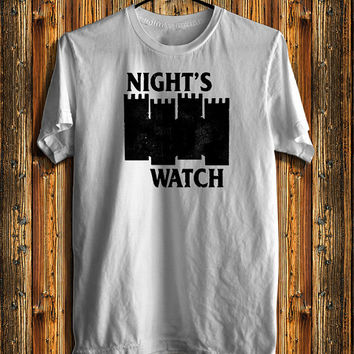 Game Of Thrones Night Watch Jon Snow Castle  Men's T-shirt, Awesome Shirt