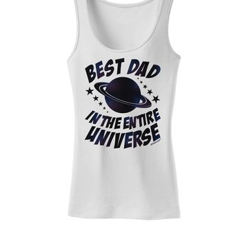 Best Dad in the Entire Universe - Galaxy Print Womens Tank Top
