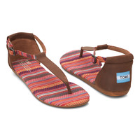 TOMS Brown Woven Playa Leather Sandal   zulily