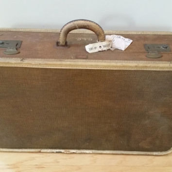 Vintage Brown Tourmaster Hardside Suit Case Luggage Great Retro Travel Style Decor Upcycle Repurpose