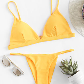 Adjustable Straps Triangle Bikini Set