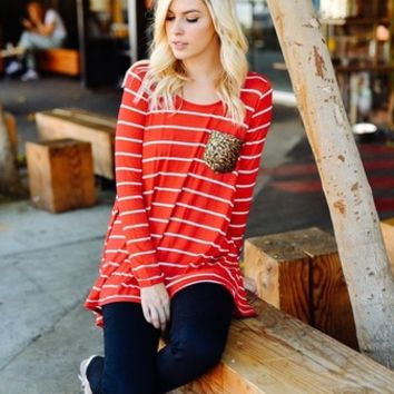 Harlyn Striped Sequin Pocket Top (S,M,L)