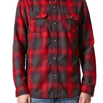 Nixon Southgate Flannel Shirt - Mens Shirts - Red