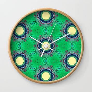 Sun flower Wall Clock by celiariani