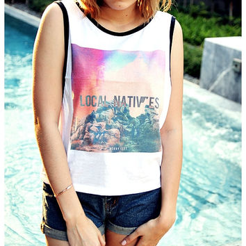 Local Natives Shirt Tank Top Women Summer Fashion Sexy Sideboob Show Bikini Size S, M, L
