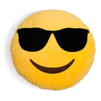 Cool Guy Sunglasses Emoji Pillow