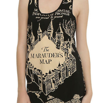 Officially Licensed Harry Potter Marauder Map Girl Tank Top
