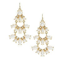 Anna & Ava Pearl Statement Earrings - Gold/Pearl