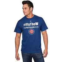 Chicago Cubs MLB Men's Fly the W Postseason T-shirt (Xlarge)