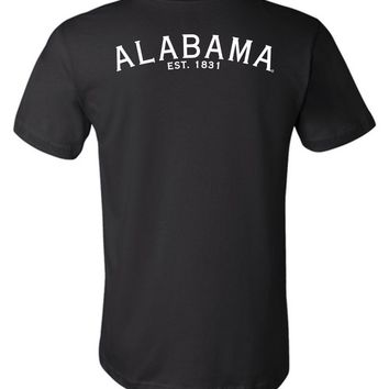 Official NCAA Venley University of Alabama Crimson Tide UA ROLL TIDE! Est 1831 Unisex T-Shirt - 35AL-1