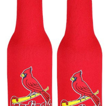 MLB Cardinals Neoprene Bottle Suits | St. Louis Cardinals Beer Bottle Koozies - Set of 2